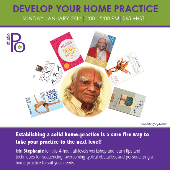 Develop Your Home Practice: Jan 28th
