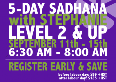 5-Day Sadhana: Sept 11-15, 2017