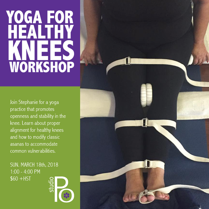 Yoga for Healthy Knees: March 18th, 2018