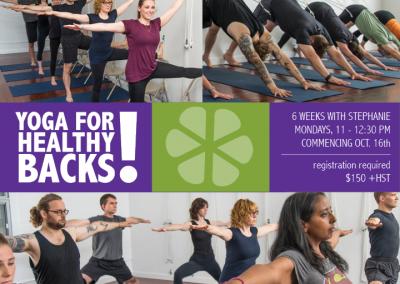 Yoga for Healthy Backs: 6 Week Series
