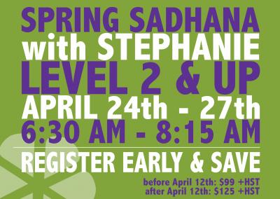 Spring Sadhana: April 24-27, 2018