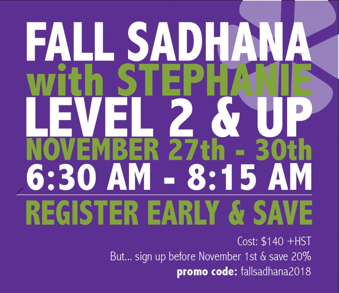 Fall Sadhana: Nov 27-30, 2018